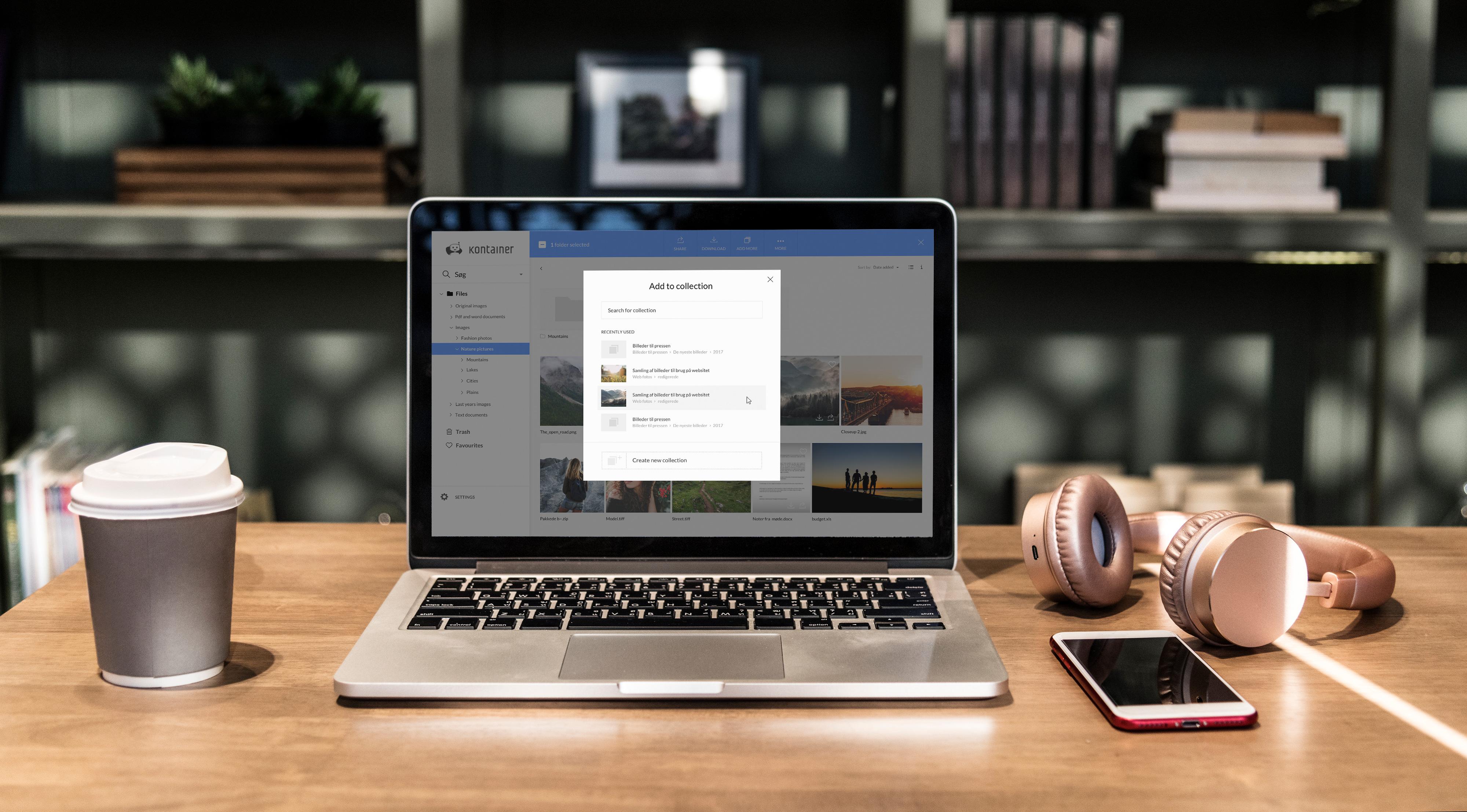 Kontainer - Danmarks førende DAM system til arkivering og deling af fotos, video og filer