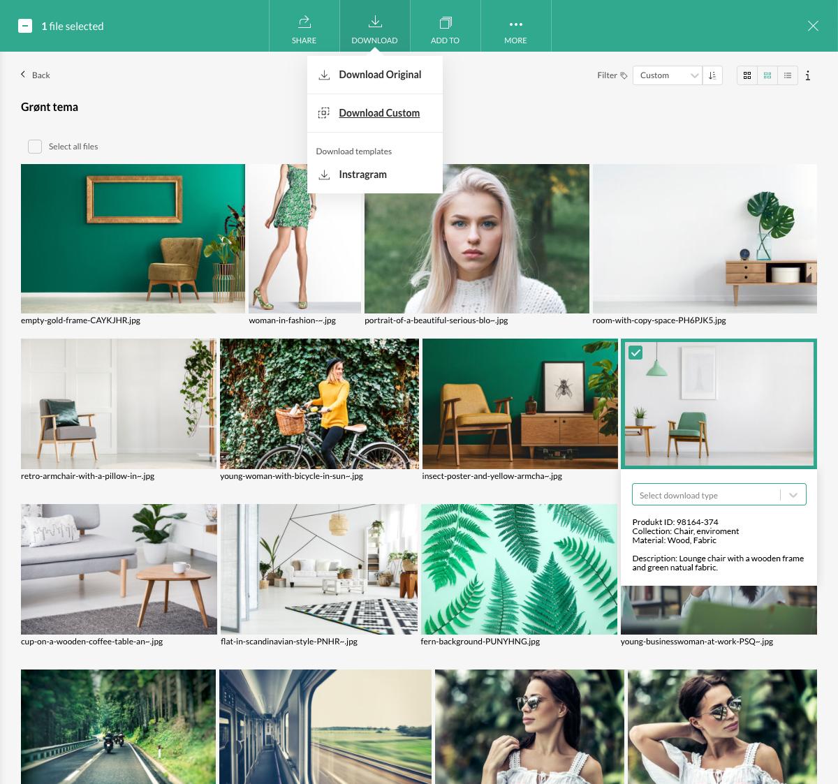 Moderne og brugervenligt imagebank alternativ til dropbox